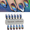 New 1g Bottle Laser Silver Holographic Pigment Mirror Powder Nail Chrome Effect Dust Glitter Fine For
