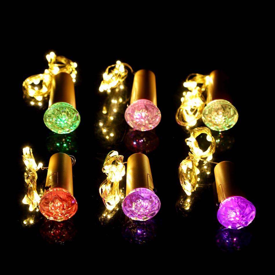 10 Pack Bottle Lights Cork Copper Wire 15LED String Lights For Wine Bottle  Party DIY Wedding Decoration Lighting String