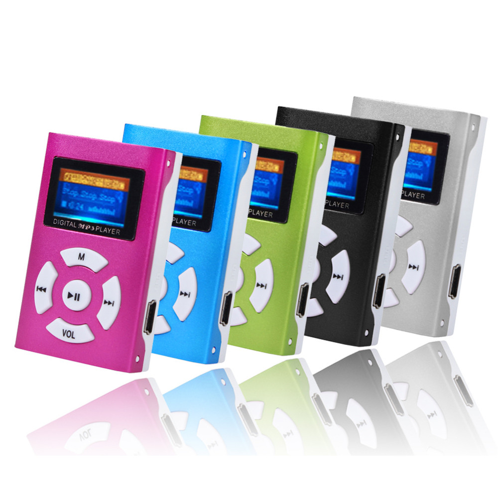 AIKEGLOBAL Hifi USB Mini MP3 Music Player LCD Screen Support 32GB Micro SD TF Card Sport Fashion 2019 Brand New Style Rechargeab
