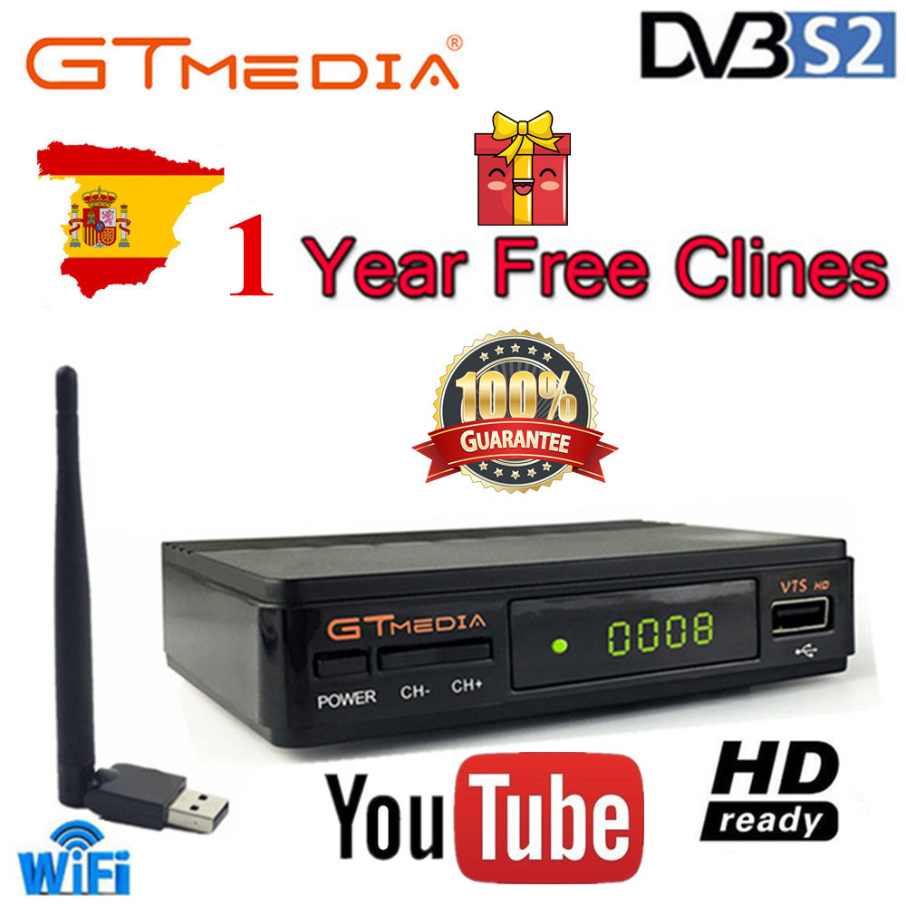 1 Year Europe Cccam 7 Clines Server GTMedia Freesat V7S HD Digital Satellite Receiver DVB S2