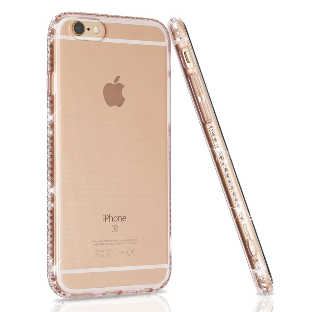 Ascromy For iPhone 7 Case Glitter Silicone Transparent Cover For iPhone X S Max XS XR 8 Plus 6 6S Bling Luxury Case Accessories (2)
