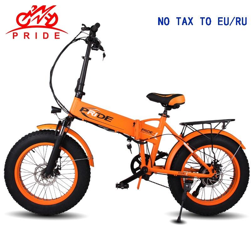 Vélo électrique 48V12. 5A batterie 20 4.0 gros pneu vélo électrique en aluminium pliant 350 W puissant montagne ebike neige/plage e vélo