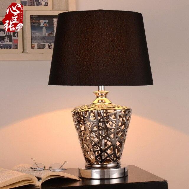 TUDA 2017 Ceramic Table Lamp for Bedroom Bedside Lamp European ...