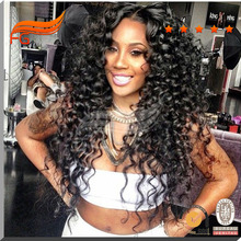 Popular Glueless Full Lace Human Hair Wigs for Black Women 150 Density Curly Lace Front Human