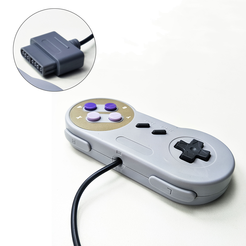 Image 4 - Computer host controller for SNES system console controller wired game console handle purple color two color buttons-in Gamepads from Consumer Electronics