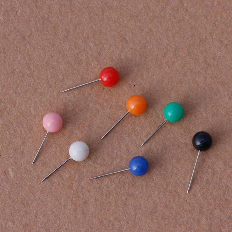 50 Pcs/Tas Bulat Pearl Kepala Pin Memancing Baris Bros Fishing Tackle Multicolor