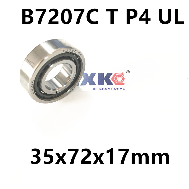 1pcs AXK  7207 7207C B7207C T P4 UL 35x72x17 Angular Contact Bearings Speed Spindle Bearings CNC ABEC-7 1pcs 71901 71901cd p4 7901 12x24x6 mochu thin walled miniature angular contact bearings speed spindle bearings cnc abec 7