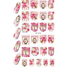 WATER DECAL NAIL STICKER FULL COVER FLOWER CURTAIN PARIS TOWER ANGEL BABY SISTER ANIMAL YE019-024(China)