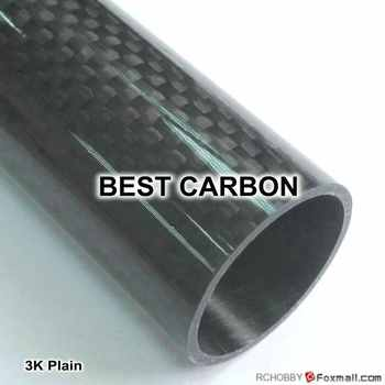 Free shiping 2pcs x 25mm x 23mm x 2000mmm High Quality 3K Carbon Fiber Fabric Wound Tube - DISCOUNT ITEM  0% OFF All Category