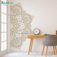 Мандала пополам новый дизайн большой размер орнамент марокканский Йога тема Наклейка Декор для студии настенный Декор для дома B927