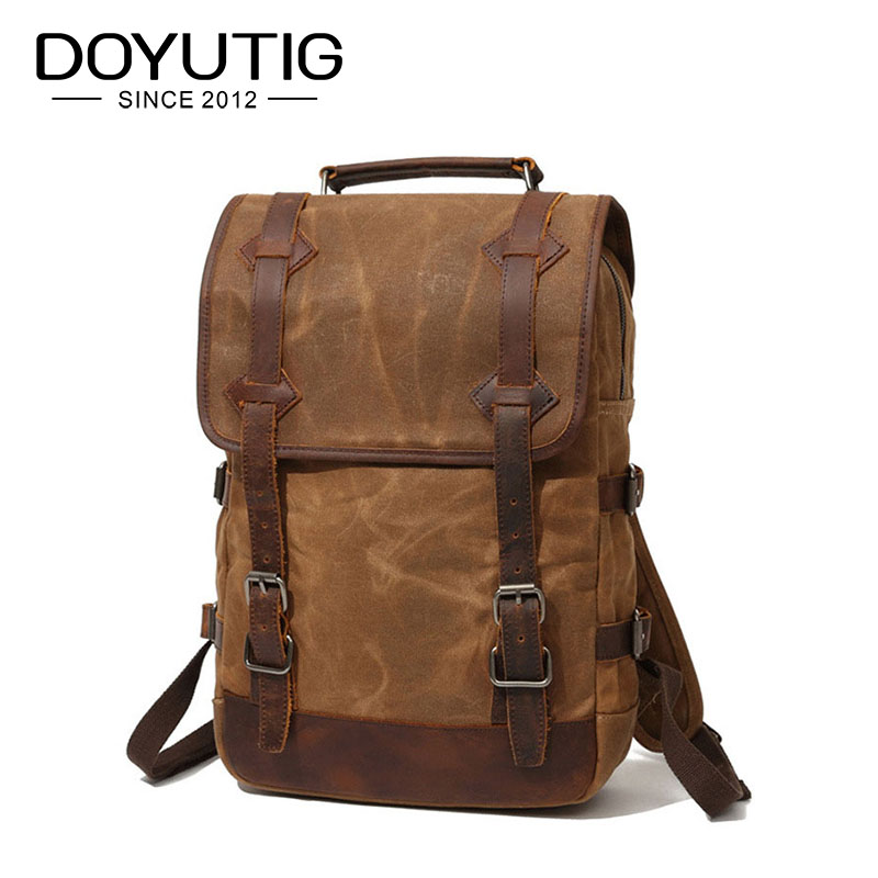DOYUTIG New Arrival Women & Men Backpack School Backpack For Teenage Casual Rucksack Canvas Student Cool Design Knapsack H079 casual style print and canvas design satchel for women