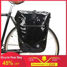 Lixada 20L Bike Bag Pannier Radfahren Fahrrad Hinten Pack Tasche Wasserdichte MTB Bike Sitz Trunk Bag Roller Fahrrad Zubehör cheap PVC sandwich + Oxford
