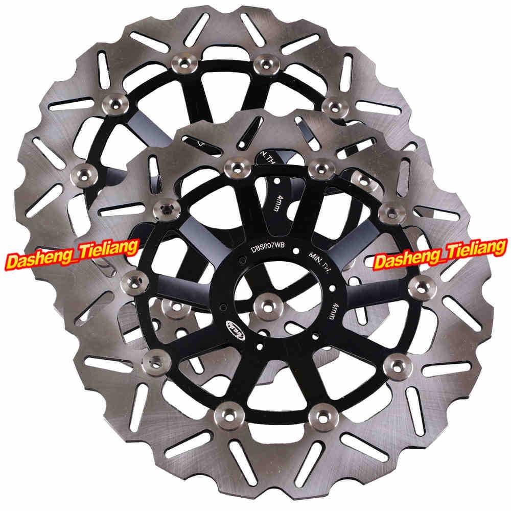 Передние тормозные диски диски для Honda СВ400 СФ СВ1 СВ 400 СФ Superour CB600 Хорнет черного цвета, Нержавеющая сталь