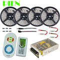 Dual color LED Strip 20m 15m 10m 5m Daylight flexible tape tiras Waterproof + RF Remote Controller + Power Adapter Free shipping