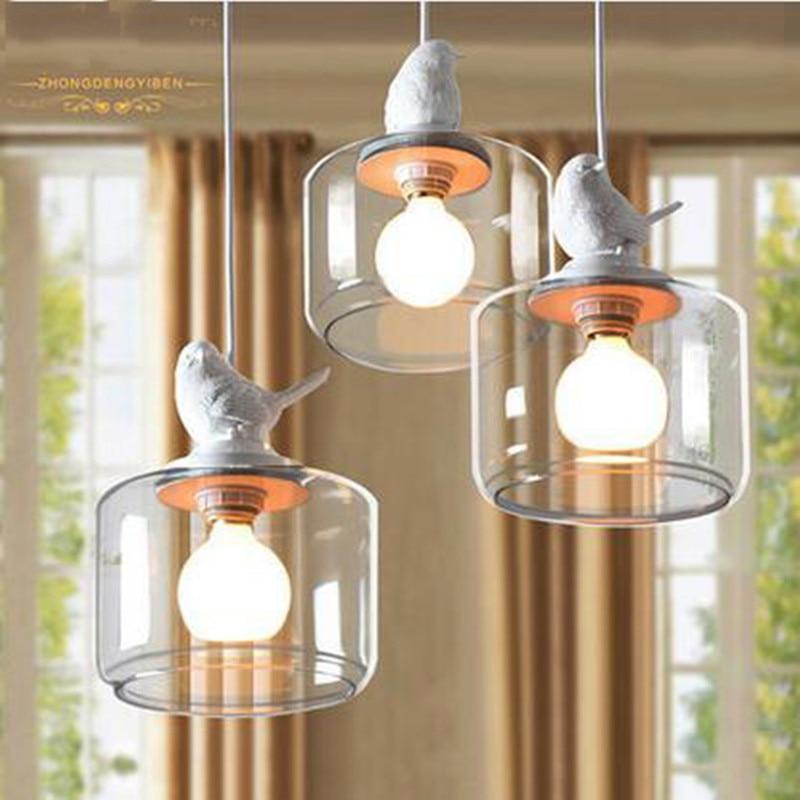 ФОТО American style village creative bird pendant lamp for coffee room countryside dinning room Single head of  of  Chandelier