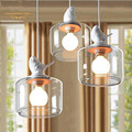 American style village creative bird pendant lamp for coffee room countryside dinning room Single head of  of  Chandelier