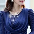 Ms. Hitz long-sleeved t-shirt b louses female autumn ladies gauze dress shirt female YF108