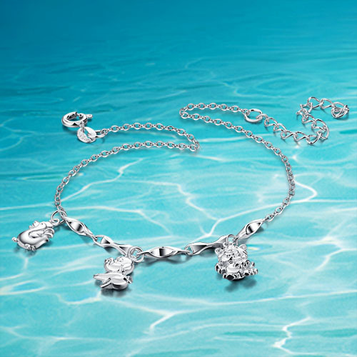 6566a1cd8 Hot sale!!! 925 women sterling silver anklets;silver charm anklets ...