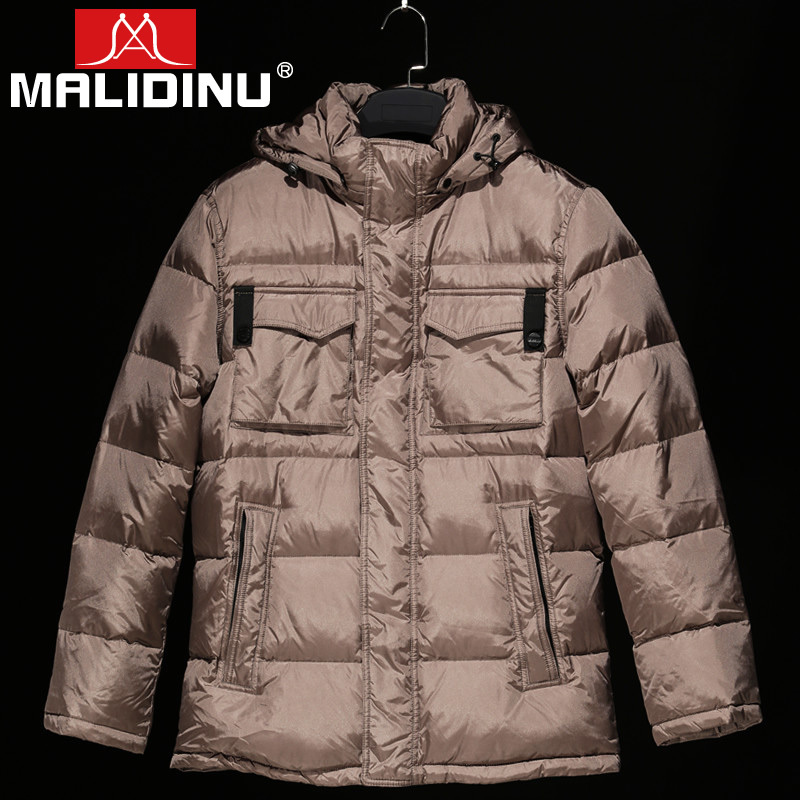 MALIDINU 2018 High Quality Men Down Jacket Winter Thick Down Coat Brand 70%White Duck Down European Size Down Coat Free Shipping