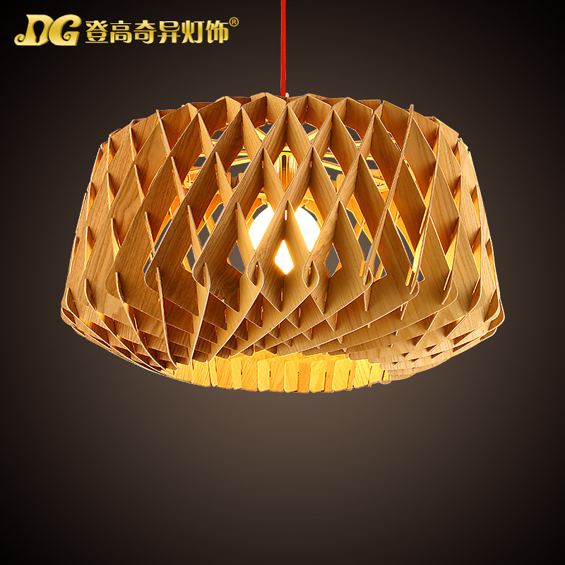 European New Simplified Style Dining Room Wooden Chandelier Bird Net Coffee Shop Light Study Light D480MM Free Shipping bestdvr 805 light net в москве