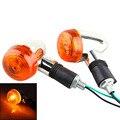 1 Pair Bullet Motorcycle Motorbike Turn Signal Indicator Blinker Amber Light Lamp 12V
