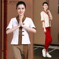 Thai massage uniform Spa beautician uniform myanmar asia women spa accessories uniform for beauty salon AA2693 Y