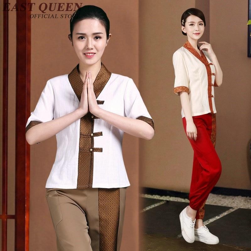 Thai massage uniform spa beautician uniform myanmar asia for Uniform thai spa
