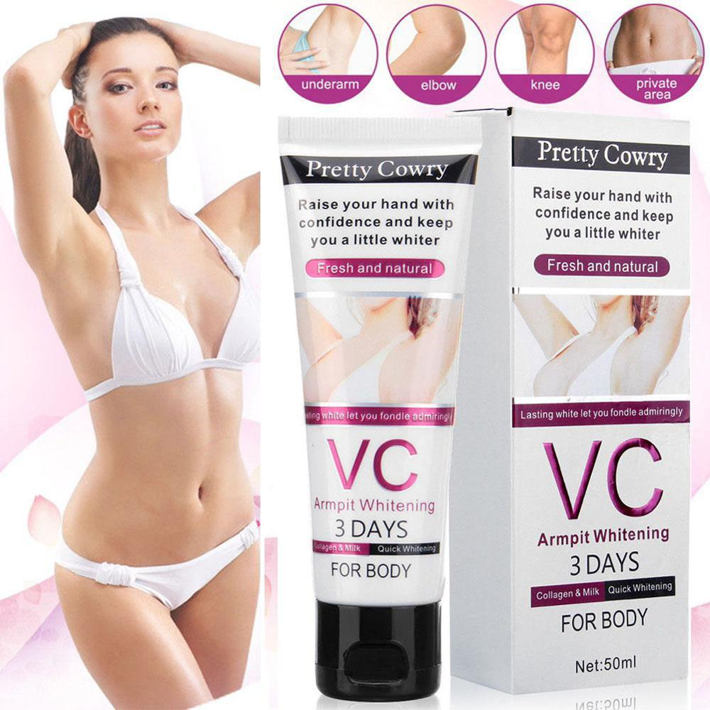 50G body whitening cream for Dark Skin Armpit Elbow Lightening Bikini Underarm Thigh 5