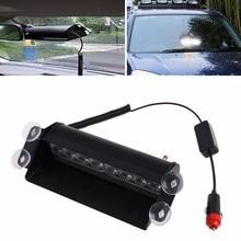8 Flash Led Del Carro Del Barco Unidad Parabrisas Emergencia 3 Modo Intermitente de Advertencia Coche de Policía Luz Estroboscópica Lamp-D2TB