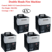 4 шт./лот 200 Вт DMX 512 пожарной машины сценический эффект оборудование пожарная машина для кислородной резки для освещения сцены эффект Беспла