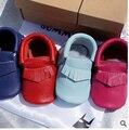 Envío libre del bebé zapatos de las muchachas de Bebé de Cuero Genuino Mocasines arco zapatos de Bebé suaves Del Primer Caminante zapatos Chaussure Bebe recién nacido