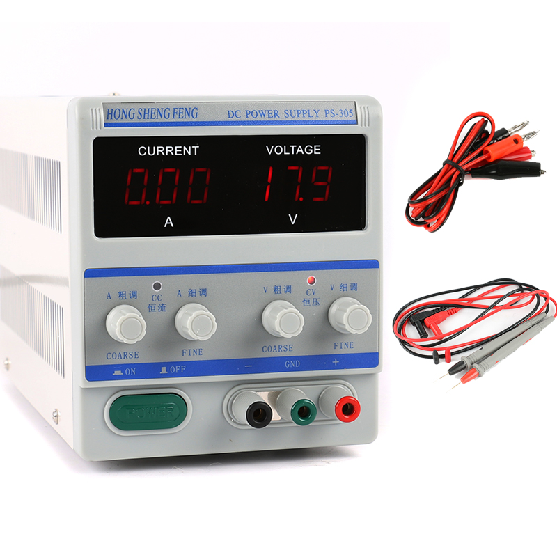 PS-305 Adjustable Digital Programmable DC Power Supply 30V 5A Laboratory Power Supply 110V 220V Phone Repair Tool Kit free shipping dps 305dm digital dc power supply 30v 5a 0 001a 0 1v programmable mobile phone repair power