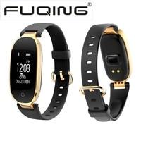 FUQING S3 Fashion Smart Band Bracelet Heart Rate Monitor Girl Women Wrist Smartband Lady Female Fitness