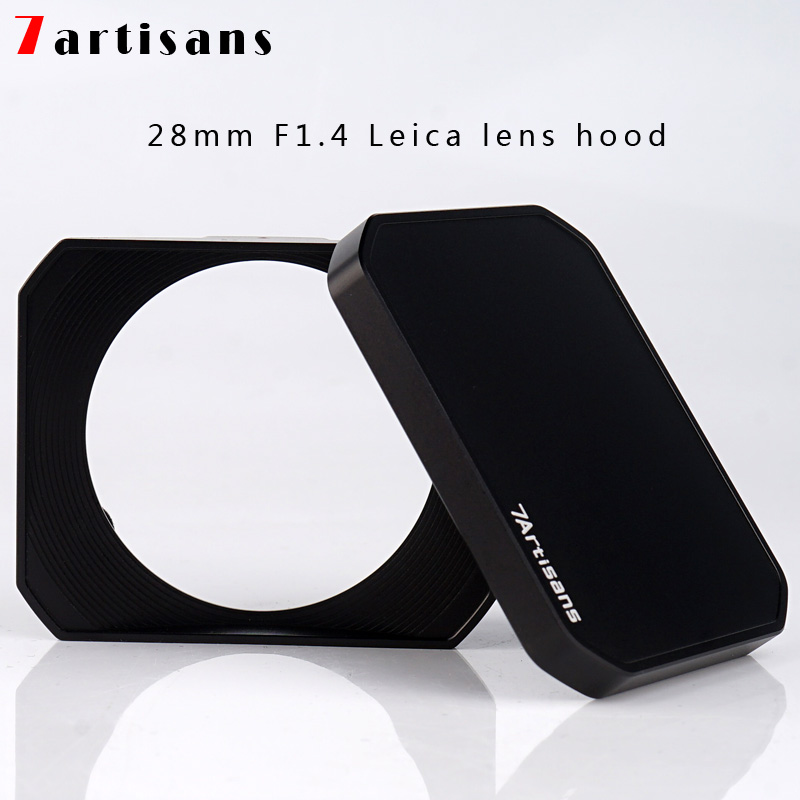 Rectangle Rectangular Metal Screw-in Lens Hood with Cap for 72mm Lens Filter