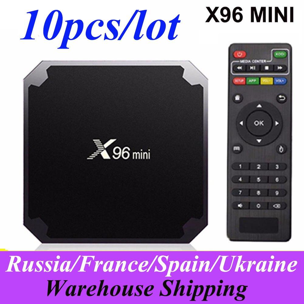 10pcs lot X96mini Smart TV BOX X96 Mini Android 7 1 2GB 16GB Amlogic S905W Quad