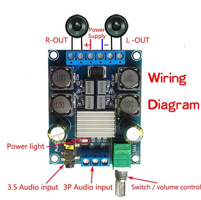 TPA3116 2.0 A Due Canali amplificatore di potenza Digitale Consiglio 50 W + 50 W Stereo amplificatore Audio