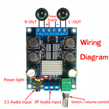 TPA3116 placa amplificadora Digital de dos canales, amplificador de Audio estéreo de 50W + 50W, 2,0