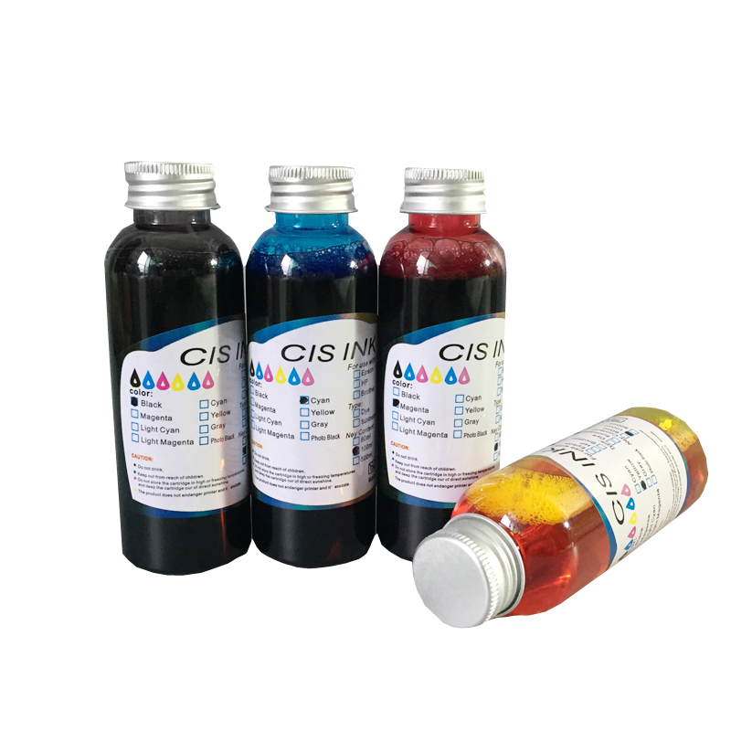 Edible Ink New 4 colors (CMYK) For Canon Epson Desktop Inkjet Printer For Cake Chocolate coffee & food printer free shipping 100ml x 5pcs pgi 225 cli 226 edible ink for canon ip4820 ip4810 ip4920 ix6520 inkjet printer