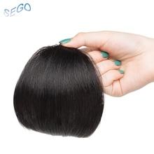 SEGO 10*12, чистый цвет, человеческие волосы, челка, градиентная челка, прямые волосы на заколках для наращивания, челка, не Реми, человеческие волосы, бахрома, 10 г/шт