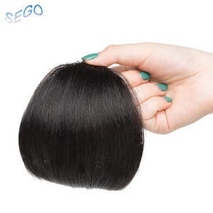 SEGO Hair-Extension Bangs Fringes Human-Hair-Bangs Clip-In Gradient Straight Pure-Color
