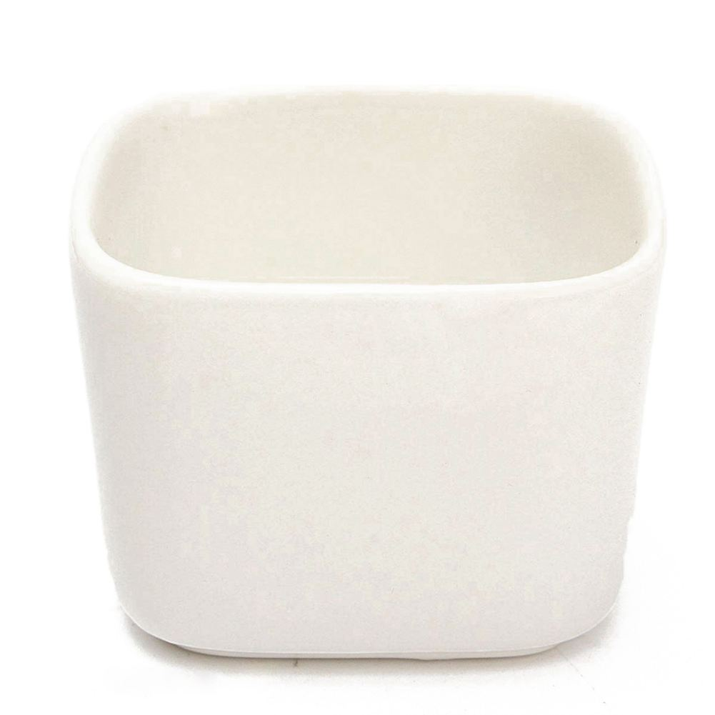 HOT-Mini White Ceramic Planter Succulents Flower Porcelain Pot Plant Box Garden Decor