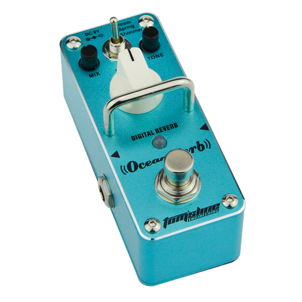 AROMA AOV-3 OCEAN VERB Digital reverb Guitar Mini Analogue Effect True Bypass aroma aov 3 ocean verb digital reverb electric guitar effect pedal mini single effect with true bypass guitar parts