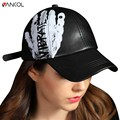 Vancol Printed Letter Horseshoe Fitted Hats casquette bone aba reta  gorras bone Hip  Faux Leather Baseball Caps Women