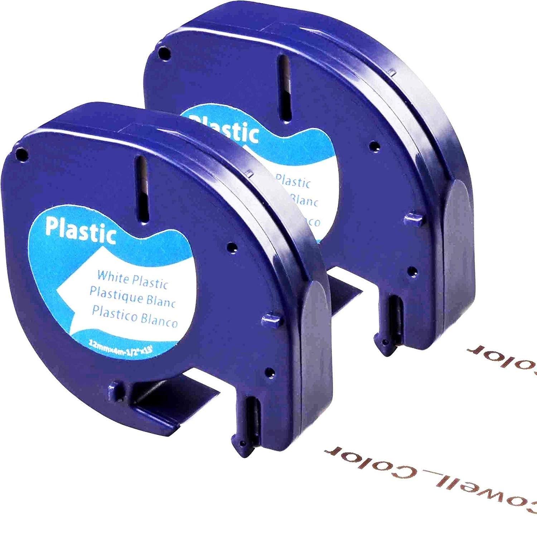 12 mm x 4 m per Roll 5X Compatible Dymo LetraTag Plastic Clear Label Tape LT