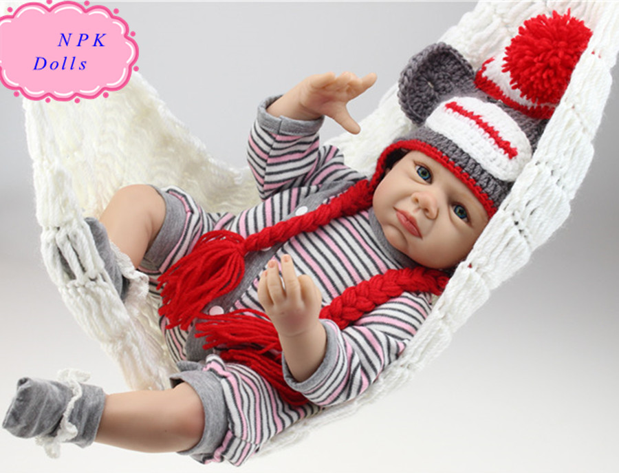 Latest Lifelike NPK Real Silicone Baby Dolls About 50cm Handmade Doll Reborn Baby Bonecas Brinquedos Best Gifts For Children newest fashionable npk real silicone baby dolls about 22inch lifelike doll reborn for baby gift bonecas bebe reborn brinquedos