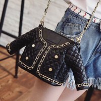 Fun Personalized Fashion Casual Black Jacket Styling Quilted Chain Handbag Women S Shoulder Bag Across