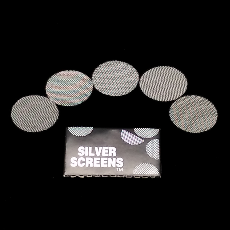 100pcs Silver Pipe Screens For Metal Glass Wooden Acrylic Water Smoking Tobacco Pipe Filters Shisha/Hookah/Chicha/Narguile