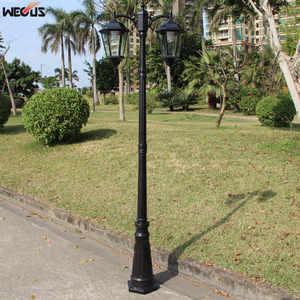 Image 4 - (H≈ 2.5 メートル) ヨーロッパ肥厚ランプポール 2 ダイキャストアルミガーデンライト屋外ガーデン道路照明照明