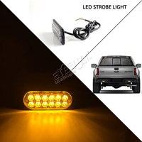 2 stücke 4,3 inch 24 Watt bernstein LED strobe notlicht, 16 blinkende modi warnlampe für offroad 4x4 lkw anhänger led-beleuchtung