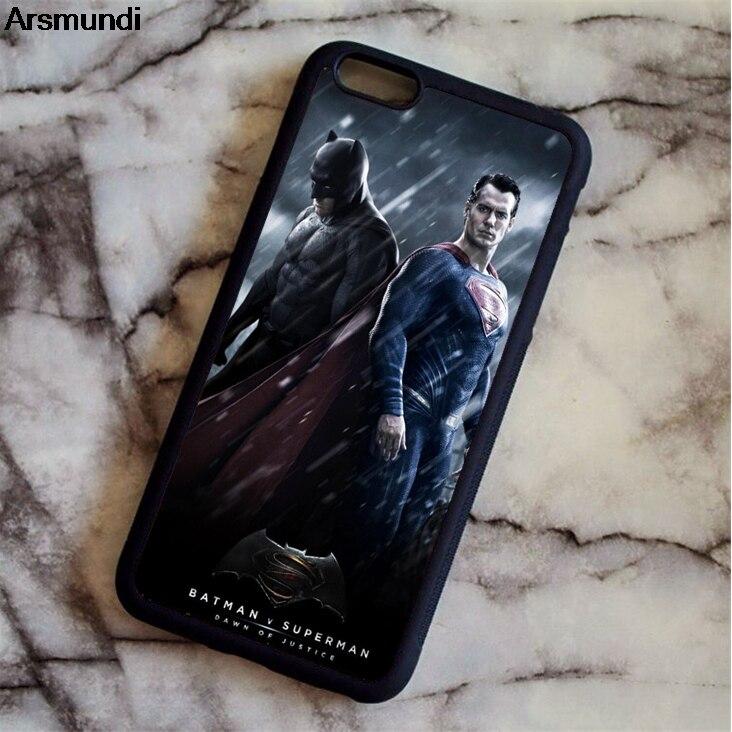 Arsmundi Super Heros Batman VS Superman Phone Cases for iPhone 4 5C 5S 6 6S 7 8 Plus X for Samsung Case Soft TPU Rubber Silicone